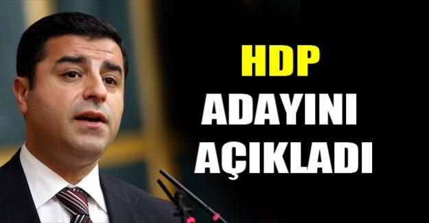 HDP adayını açıkladı!