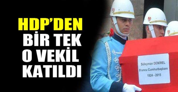 HDP'den bir tek o katıldı