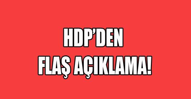 HDP'den flaş gelişme!