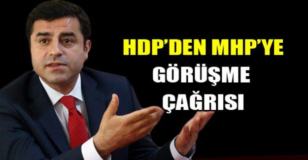 HDP'den MHP'ye yeşil ışık