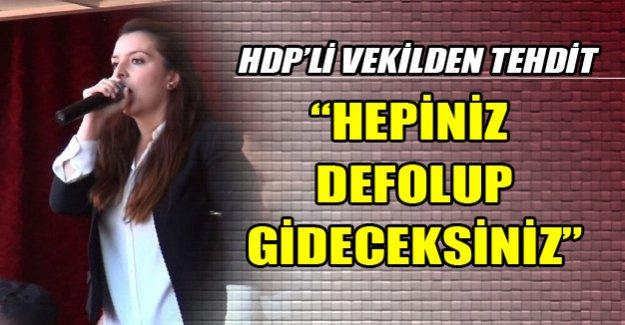 HDP'li vekilden tehdit!