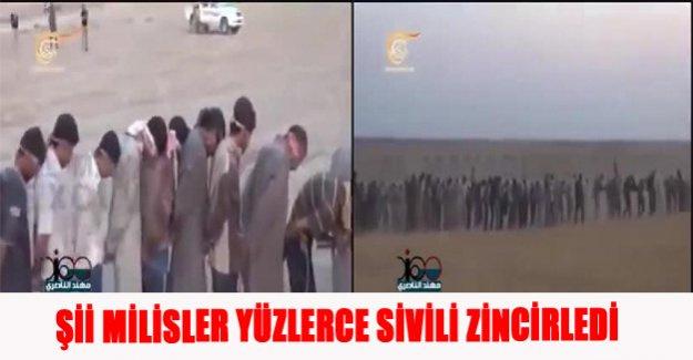 Şii Milisler yüzlerce sivili zincirledi