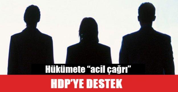 Hükümete akıl HDP'ye destek verdiler!