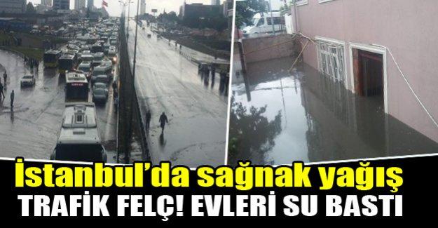 İstanbul'da sağnak yağış!