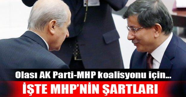 İşte MHP'nin koalisyon şartları