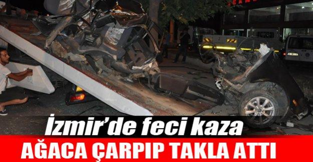 İzmir'de feci kaza! 1 ölü 2 yaralı