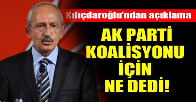 Kılıçdaroğlu'ndan koalisyon açıklaması