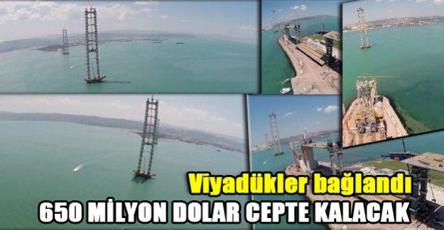 Körfez Köprüsü'nden 650 milyon dolar tasarruf