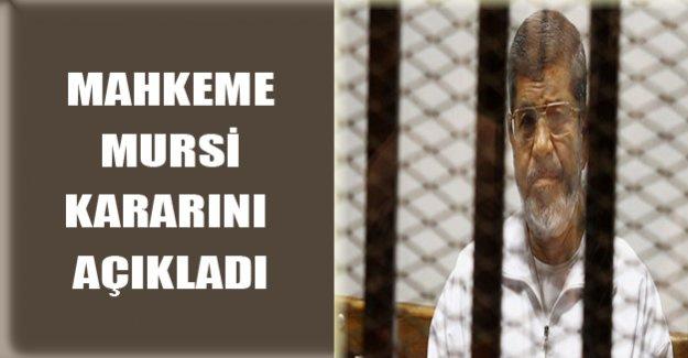 Mahkeme Mursi Kararını Açıkladı