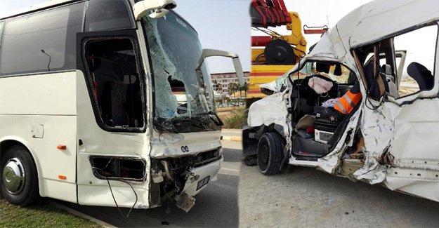 Manavgat'ta otobüs ve minibüs çarpıştı