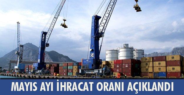 Mayıs ayı ihracat oranı açıklandı!