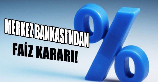 Merkez Bankası bugün kararını açıklayacak!