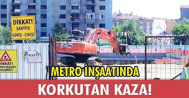 Metro inşaatında doğalgaz patlaması!