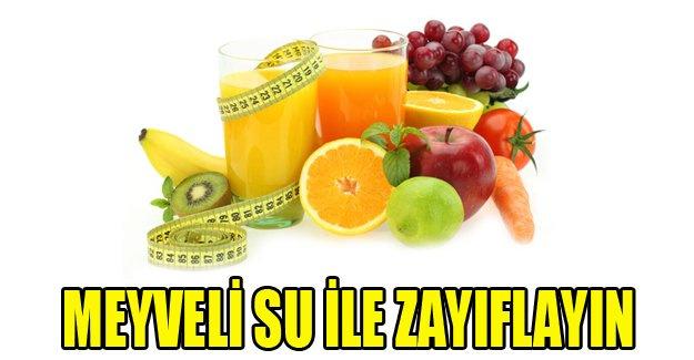 Meyveli su ile ayda 5 kilo zayıflayın