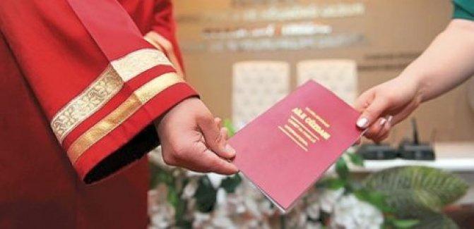 Nikah işlemleri için gerekli belgeler, evraklar