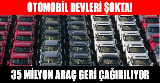 Otomobil devleri şokta! 35 milyon araç geri çağrılıyor