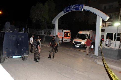 Polis Merkezi'ne ateş açıldı, 2'si polis 3 yaralı