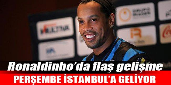 Ronaldinho perşembe İstanbul'da!