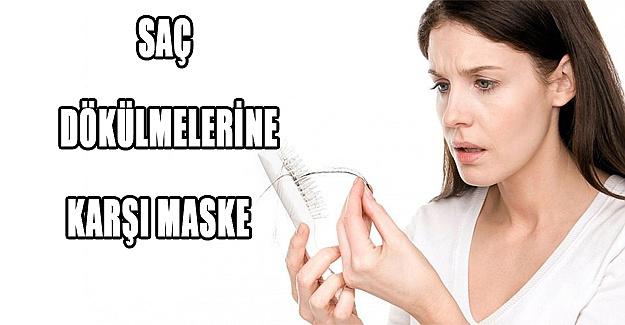 Saç dökülmelerine karşı maske