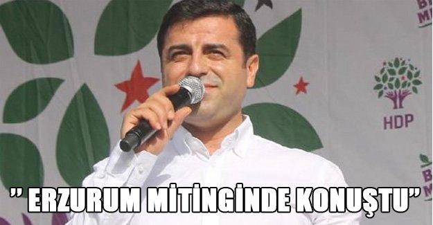 Selahattin Demirtaş Erzurum'da konuştu