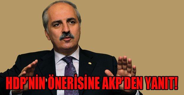 Selahattin Demirtaş'ın önerisine AKP'den cevap geldi!