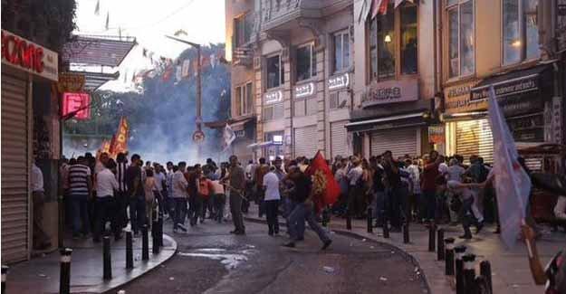 Taksim'de polis müdahale etti!