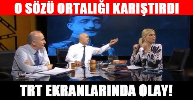 TRT ekranlarında olay tartışma