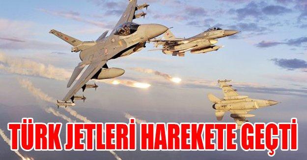 Türk jetleri harekete geçti