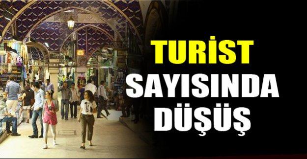 Türkiye'ye gelen turist sayısında azalma oldu!