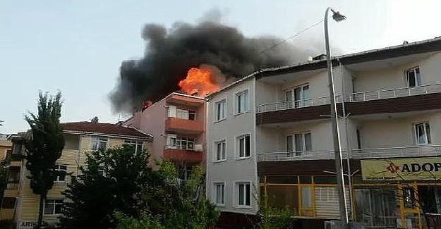 Üskürdar'da yangın!