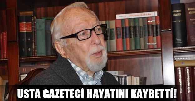 Usta gazeteci hayatını kaybetti!
