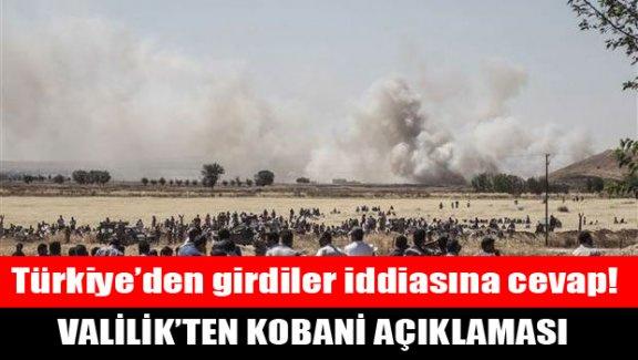Valilik'ten Kobani açıklaması!