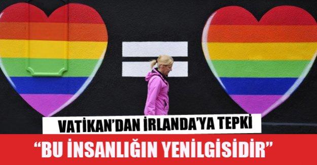 Vatikan İrlanda'nın eşcinsel kararına tepki gösterdi