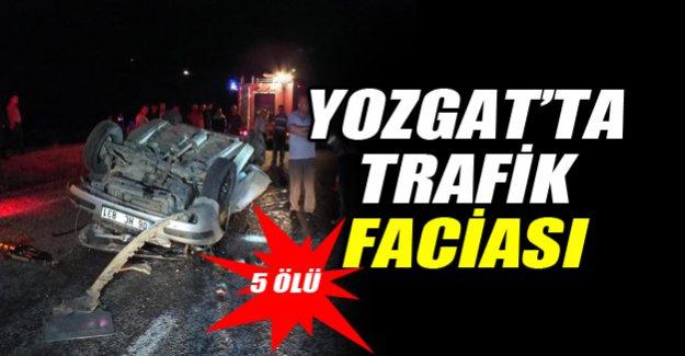 Yozgat'ta otomobil takla attı: 5 ölü