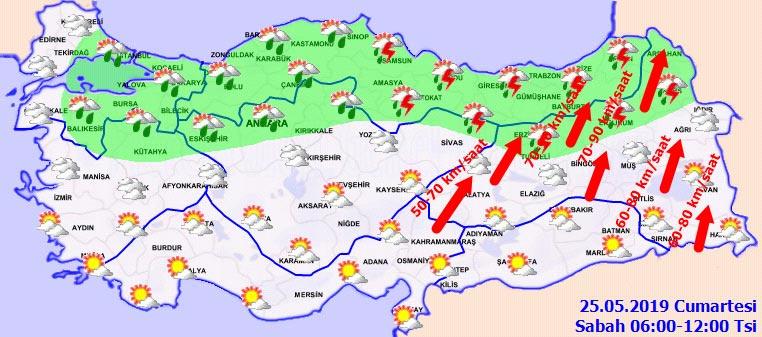 İstanbul'da hafta sonu hava durumu nasıl olacak - 25 Mayıs 2019