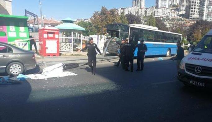 Ankara'da halk otobüsü kazası, ölü ve yaralılar var