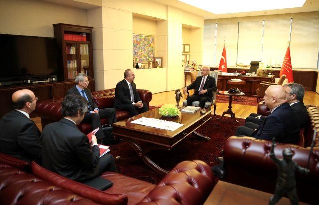 Çavuşoğlu, Libya tezkeresi için Kılıçdaroğlu'nu ziyaret etti