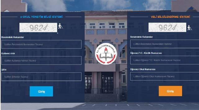 e-Okul Veli Bilgilendirme Sistemi 2019 (e-Okul VBS) Giriş Ekranı