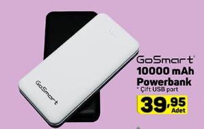 - GOSMART 10.000 MAH POWERBANK