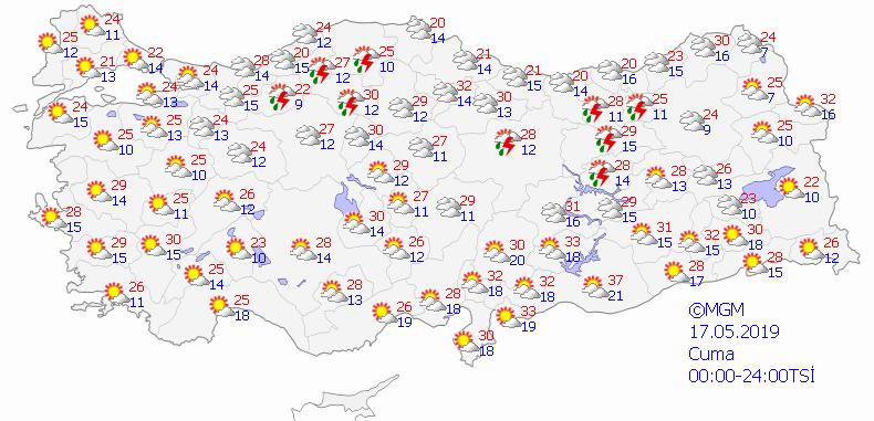 Türkiye genelinde havalar ısınıyor - 5 günlük haritalı hava durumu