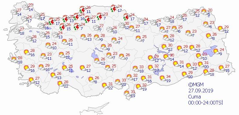 Meteorolojiden bazı bölgelere yağış uyarısı