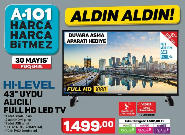 - HI-LEVEL 43 INÇ UYDU ALICILI FULL HD LED TV