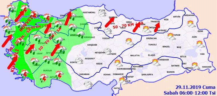 29 Kasım 2019 Cuma İstanbul hava durumu nasıl olacak? Haritalı