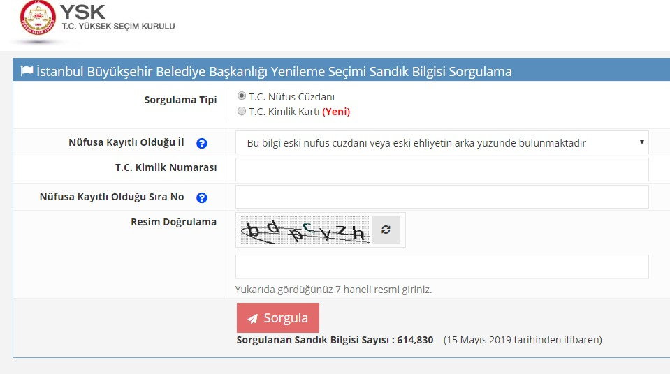 YSK seçmen sorgulama 2019 İstanbul