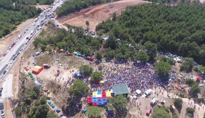 CHP ve HDP'liler Kaz Dağları'nda buluştu