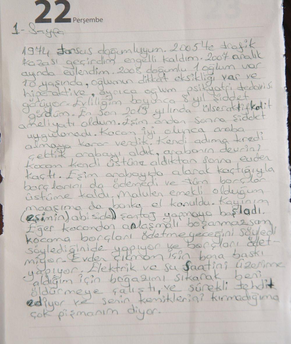 engelli kadının mektubu
