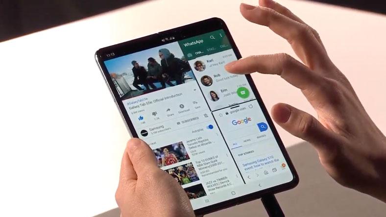 Samsung katlanabilir telefon