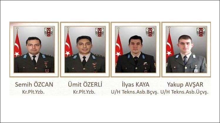 İstanbul şehitlerin isimleri