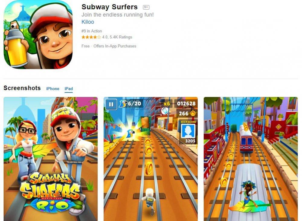 subway surf ipad indir