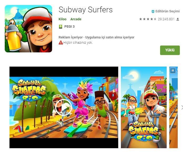 subway surf yükle